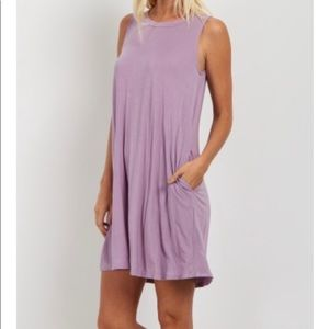 Lavender swing dress with pockets